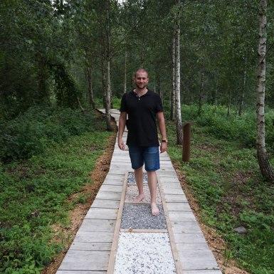 Mezítlábas park, Anyksciai, Litvánia