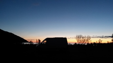 00:25, Naplemente, Ballesvika, Norvégia