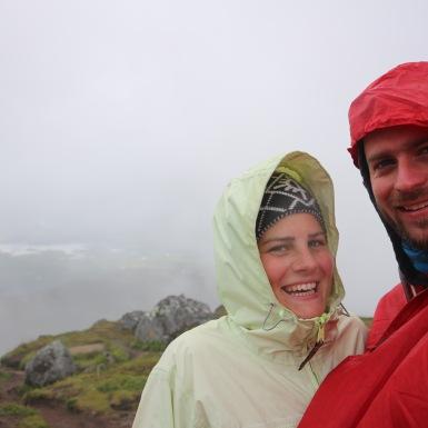 Csúcsfotó a Lofoten-szigetekről