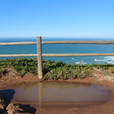 Cabo da Roca, a korlát mögött már Amerika
