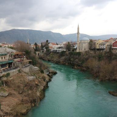 A Neretva két partja Mostarban
