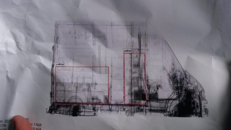 szkennelt furgon