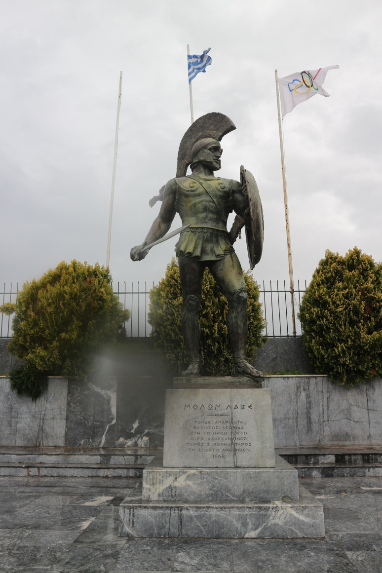 Leonidasz szobra